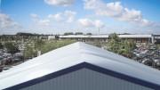 Bâtiment commercial provisoire - Conforme aux normes en vigueur, 100% acier et entièrement démontable