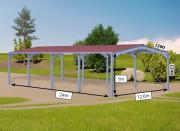 Bâtiment Galvanisé à chaud fermé avec porte sectionnelle - Bâtiment galvanisé fermé avec porte dès 28€/m²