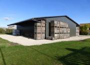 Bâtiment industriel galvanisé à chaud - Charpente en Acier Haute Résistance (Profils PRS)