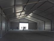 Bâtiment industriel métallique au toit souple - Hauteur cote: 5m
