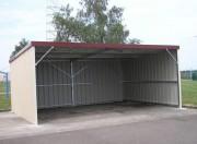 Bâtiment métallique ouvert simple pente - Hauteur : 2 m ou 2.50 m
