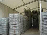 Bâtiments temporaires 10 à 20 mètres - Largeur (m): 10 -15 -20. Hauteur (m): 4 -4 -4