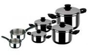 Batterie de cuisine qualité lourde - Matière : Inox, acier, émail
