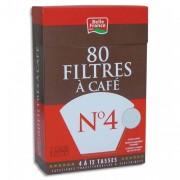BELLE France Boite de 80 filtres à café n°4 + 1 sachet détartrant 3344 - Miko