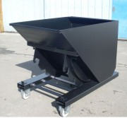 Benne à basculement automatique en acier - Capacité (L) : De 900 à 1800