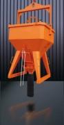 Benne à béton de coulage - Capacité (L) : de 250 à 4000