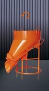 Benne à béton fond ouvrant avec trappe droite - Capacité (L) : De 150 à 1000