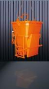 Benne à béton goulotte latérale - Capacité (L) : De 400 à 2000