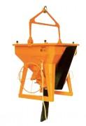 Benne à béton goulotte rabattable - Capacité (L) : De 250 à 4000