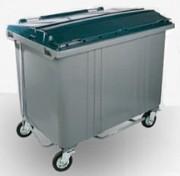 Benne à déchets en plastique - Capacité (L) : De 60 à 1700