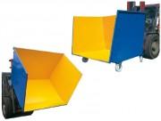 Benne à déchets ouverte sur l'avant - Capacité : De 850 à 2400 Litres