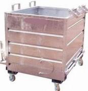 Benne à fond ouvrant de manutention déchets industriels - Capacité : 300 à 1600 litres, charge utile : 1000 kg