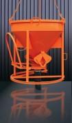 Benne à tuyau avec entonnoir - Capacité (L) de 150 à 4000