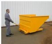 Benne auto-basculante automatique - Capacité de 300 à 2550 litres  -  Caisse en tôle pliée