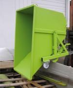 Benne auto-basculante éco - Volume de 685 à 1140 litres - Charge Max 800 kg.