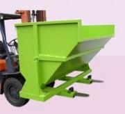 Benne auto-basculante renforcée - Pour charge lourde  - Capacité de 550 à 2500 litres