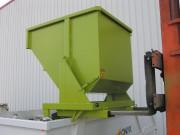 Benne auto-basculante sur pivot - Capacité de 480 à 2500 litres