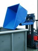 Benne auto-basculante tôlée - Charge : de 1000 à 25000 Kg
