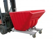 Benne basculante à caisse polyéthylène GM - Benne plastique étanche  -  Capacité 635 litres