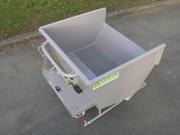 Benne basculante à copeaux GS - Capacité : de 200 à 1500 litres  -  Châssis tubulaire intégré