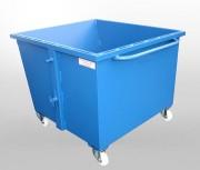 Benne basculante à déchets avec roulettes - Volume: en fonction de vos besoins