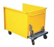 Benne basculante à déchets plats - Disponible en deux modèles : ( sur châssis ; sur roues)