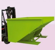 Benne basculante automatique - Volume de 300 à 2550 litres  -  Châssis rigide tubulaire