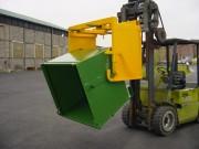 Benne basculante ergonomique - Capacités standards : 600, 900 et 1200 litres