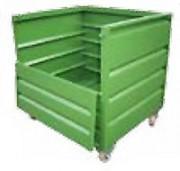Benne basculante gerbable à copeaux - Volume de 600, 900 ou 1200 litres - Gerbage 4/1