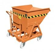 Benne basculante mobile en acier - Capacité : 400 - 1000 - 1600 L