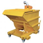 Benne basculante pour aspiration - Volume : 800 litres