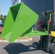 Benne basculante pour chariot élévateur 310 Litres - Dimensions (L x p x h) : 1235 x 1000 x 770 mm