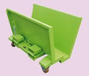Benne basculante sur mesure - Version sur socle ou sur roues  -  Différentes dimensions