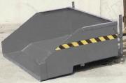 Benne basse à matériaux basculante - Charge utile : 1000 Kg  - Capacité : 900 Litres