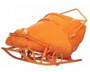 Benne béton couchée cylindro-conique
