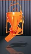 Benne béton droite à goulotte latérale rabattable - Capacité (L) : De 150 à 2000