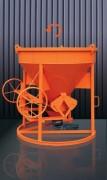 Benne béton verticale à tuyau - Capacité (L) : De 150 à 4000