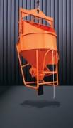 Benne conique couchée à tuyau - Capacité (L) : De 150 à 2000