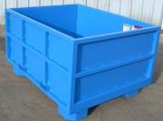 Benne cubique à déchets - Grande capacité de stockage