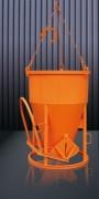 Benne cylindro-conique à fond ouvrant - Capacité (L) : de 150 à 4000