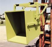 Benne de manutention basculante à palonnier - Volume de 575 à 1000 litres  -  Vidage par retournement