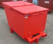 Benne étroite à couvercle coulissant - Trier déchets industriels ou autres