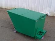 Benne industrielle à couvercle - Gestion efficace de déchets industriels