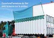 Benne pour stockage de déchets - Respecte les normes de sécurité
