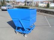 Bennes à déchets de petits volumes - Capacité : de 675 à 1350 litres