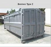 Bennes transportables acier - Volume (m3) : de 15,5 à 36