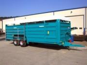 Bétaillère à deux essieux relevables - Châssis en métal laminé