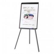 BI SILQUE Chevalet de conférence mélaminé cadre PVC noir EURO+porte-marqueurs+barrete pivotante - Bi-Office