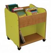 Bibliothèque 4 cases pour enfants - Dimensions (L x P x H) cm : 60 x 60 x 32 - 60 x 60 x 70
