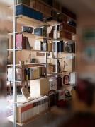 Bibliothèque aluminium à étagères bois - Modulaire - En profilés aluminium